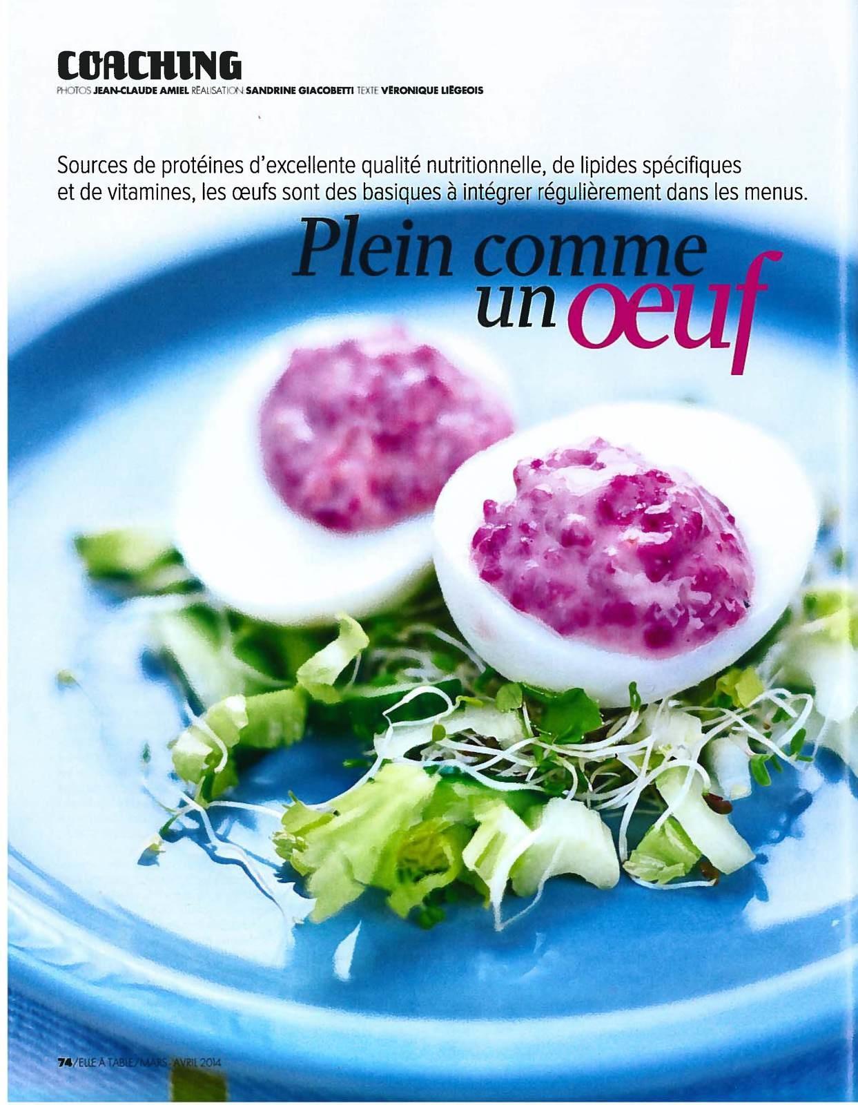 """Vu dans le magazine """"Elle à table"""""""