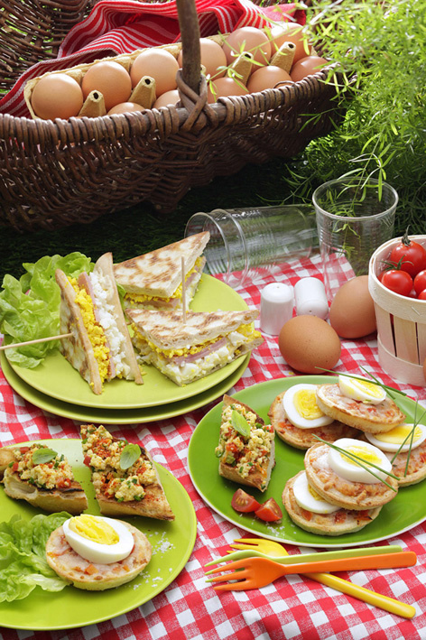 Déjeuners sur l'herbe et pique-niques autour de sa majesté : l'œuf !