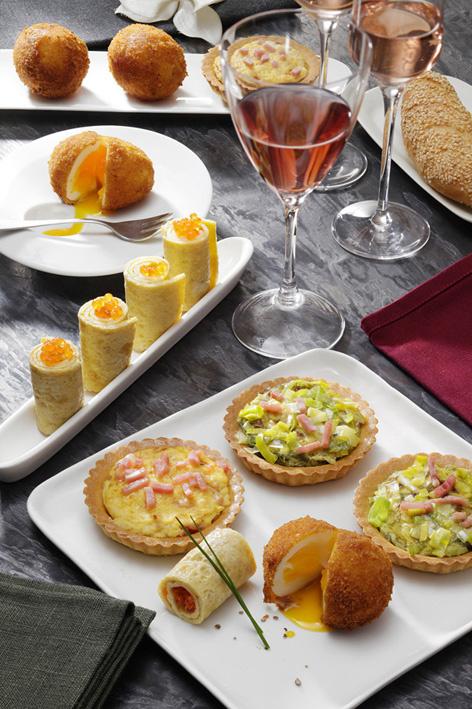 Avec l'oeuf : des petits repas entre amis, à la française !
