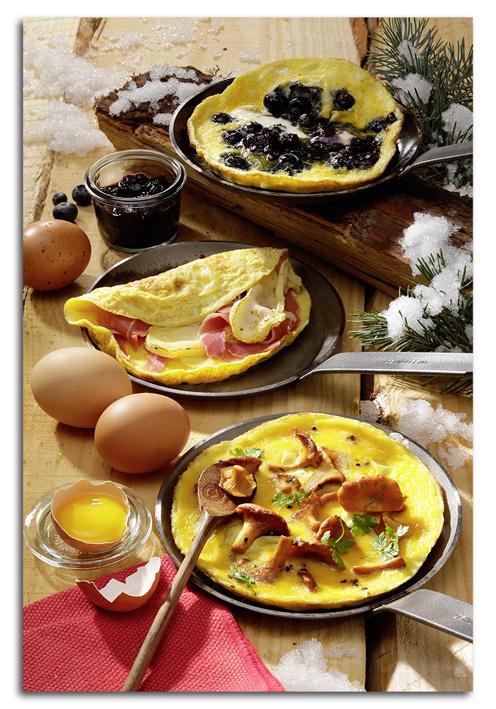 Omelettes : avec les oeufs, tout un hiver à la montagne !