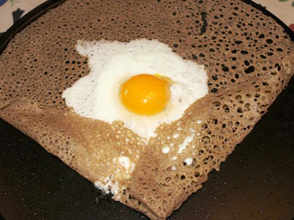 La Galette de Sarrasin et son œuf miroir