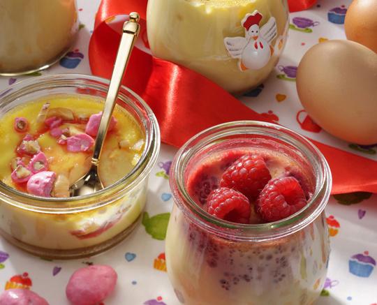 La farandole des petits pots d'œufs au lait