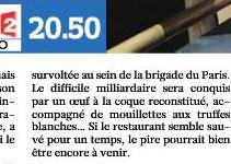 """L'oeuf séducteur dans """"Chefs"""" sur France 2"""