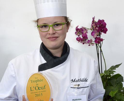 Avec sa recette « brioche d'œuf en surprise, chutney et crème acidulée », Mathilde Blas accède au podium du Trophée :