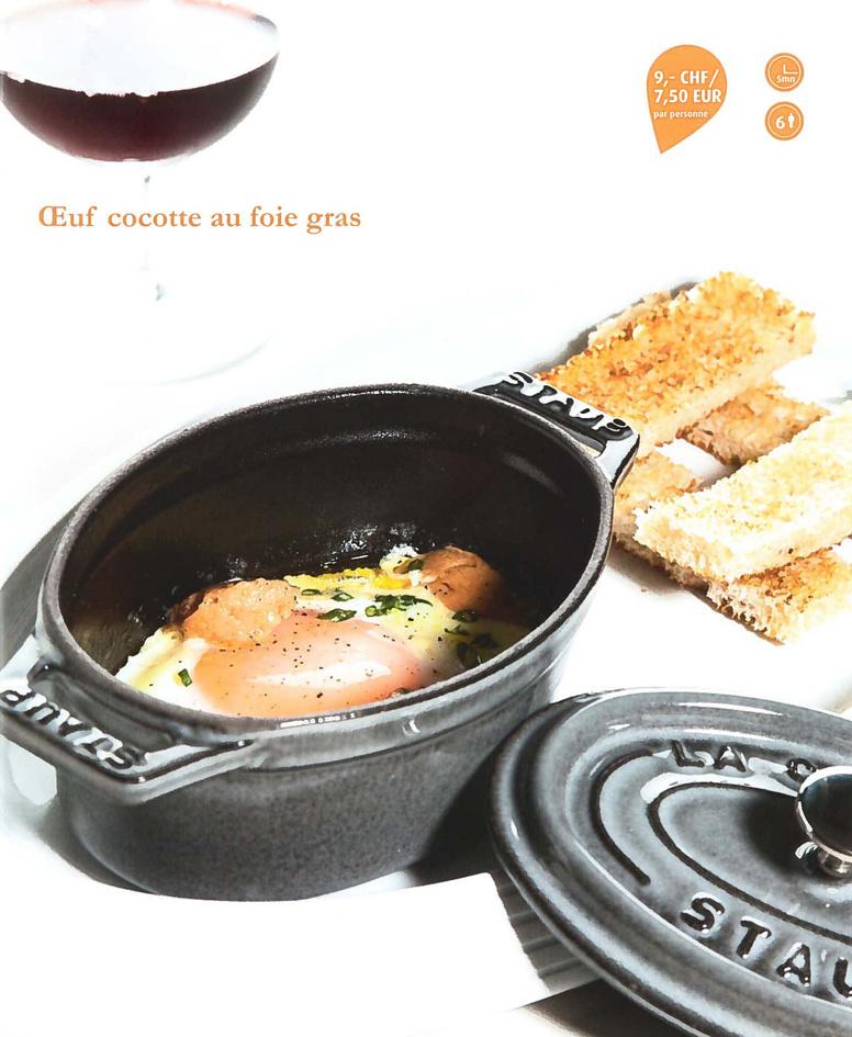 """A découvrir, la recette de """"l'Oeuf cocotte au Foie Gras"""" du Café Prunier"""