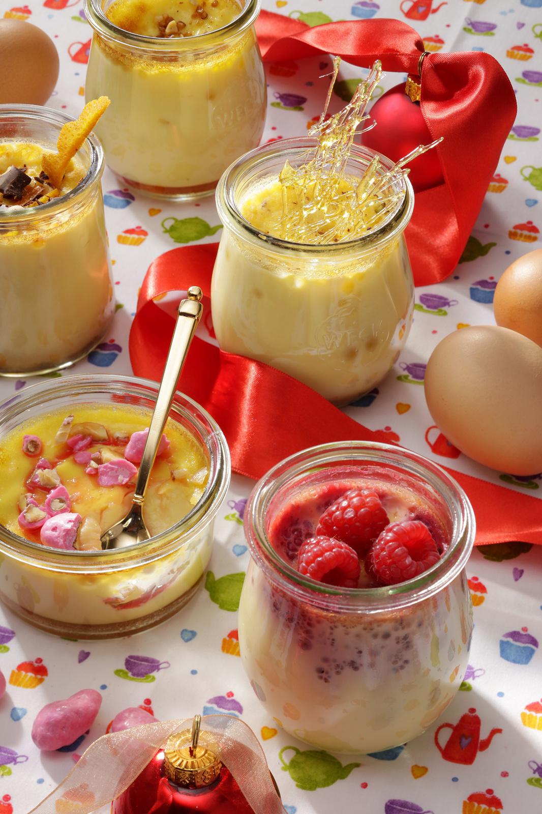 Aujourd'hui c'est la farandole des petits pots d'œufs au lait