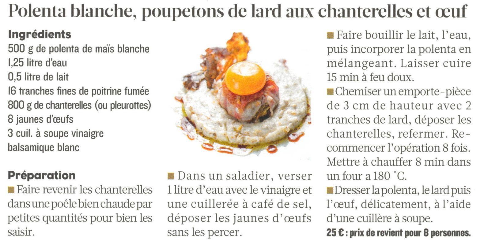 Vu dans le Figaro Magazine de décembre : une idée du Chef niçois Armand Crespo