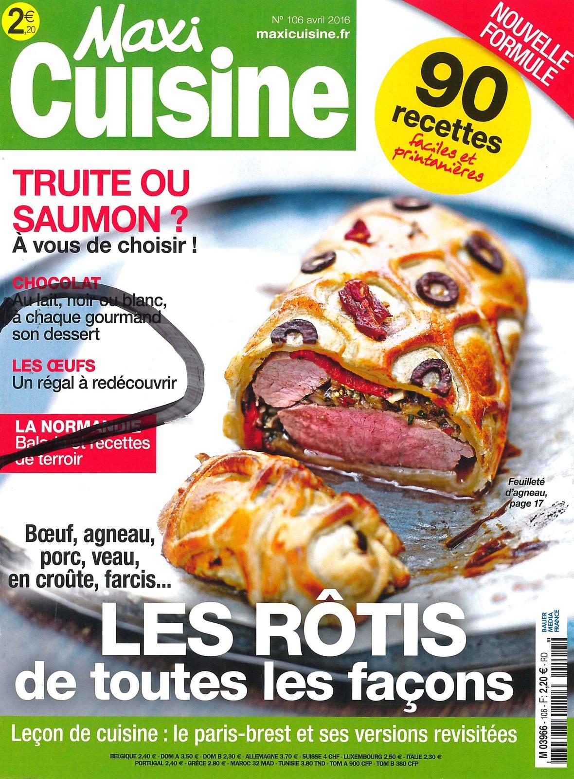 Dans Maxi Cuisine d'Avril : les Oeufs un régal à redécouvrir !