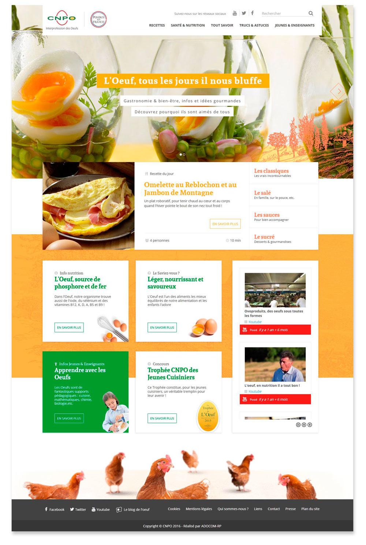 Le nouveau site lesoeufs.fr : Immersion dans l'élégance