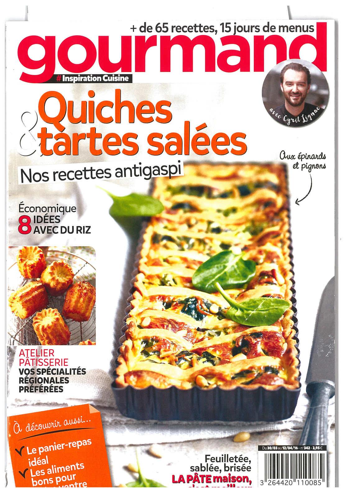 À découvrir dans le magazine Gourmand n°342 de superbes recettes à base d'oeuf !