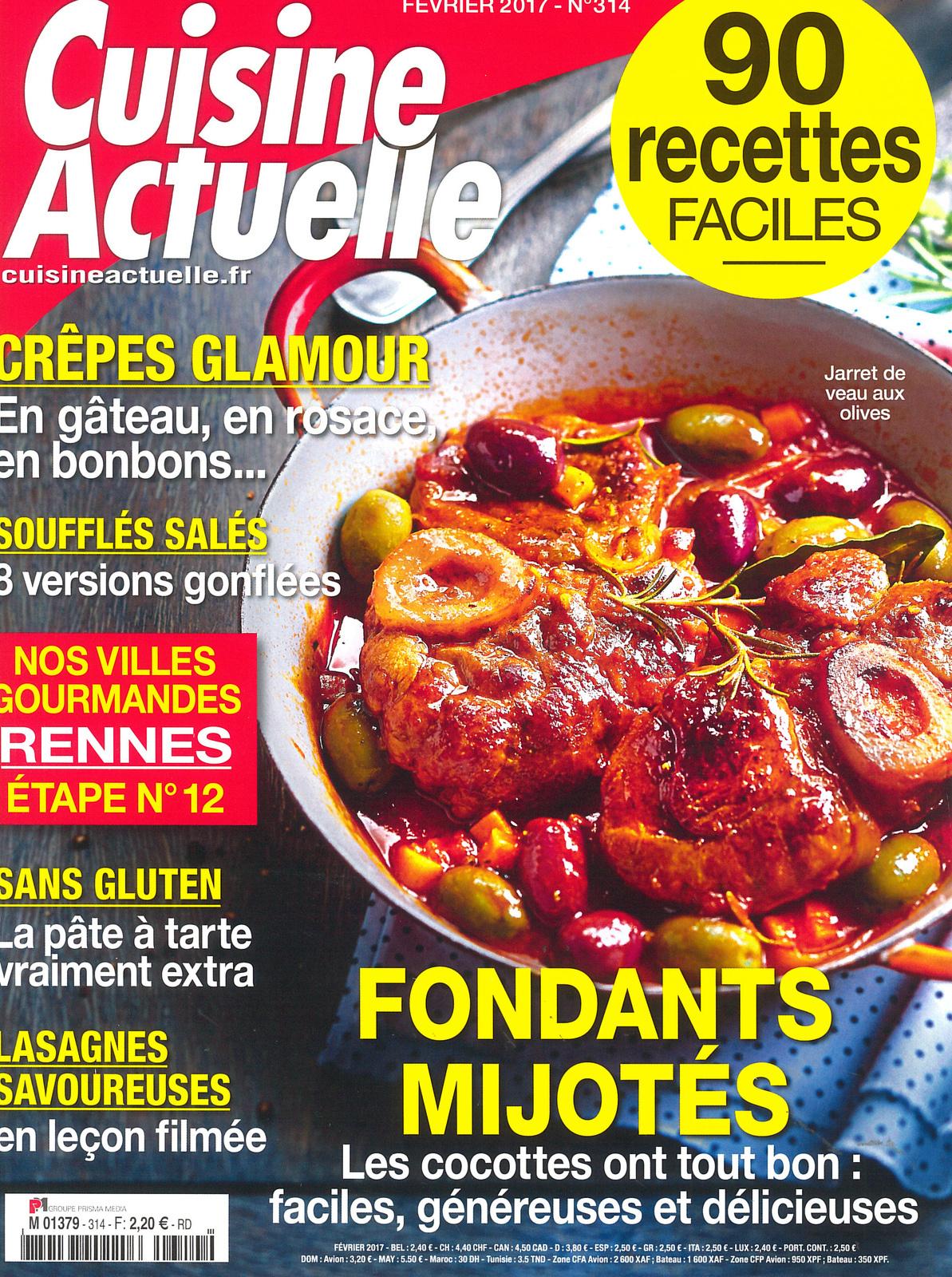 Le magazine Cuisine Actuelle et son dossier spécial crêpes