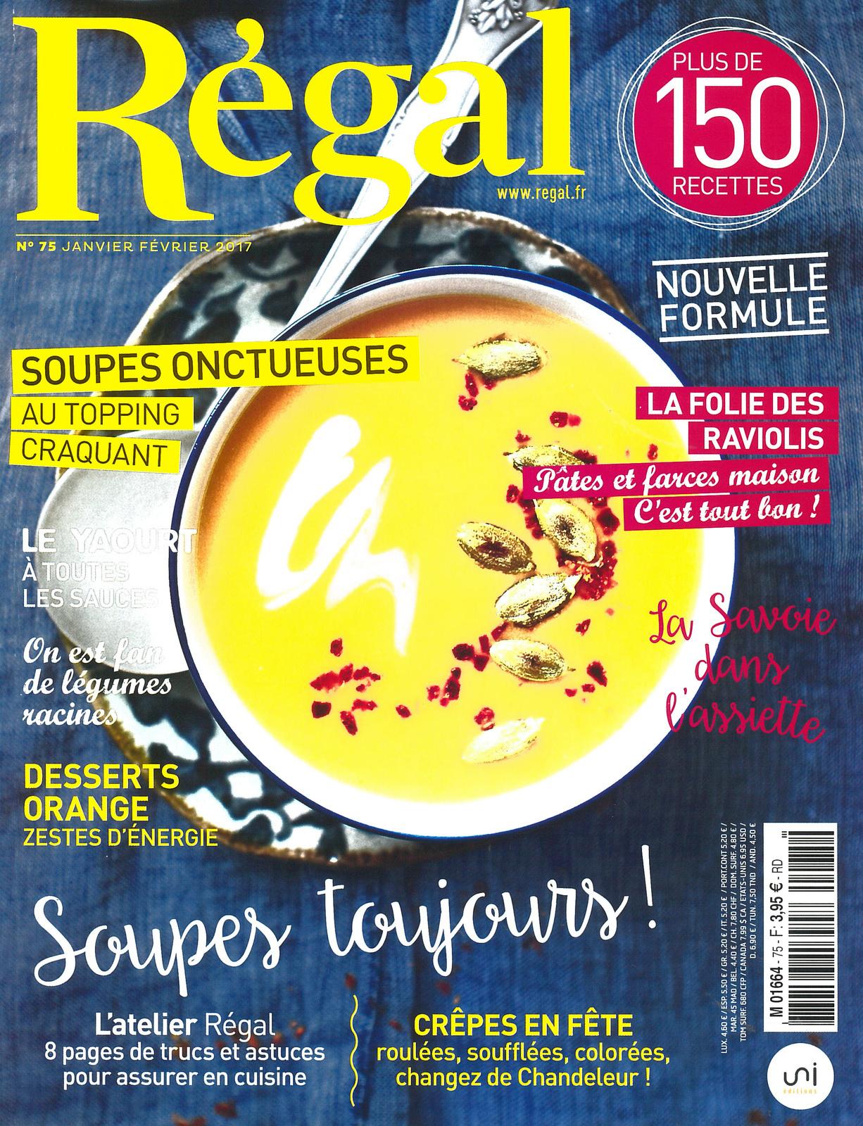 Les crêpes à l'honneur dans le magazine Régal !