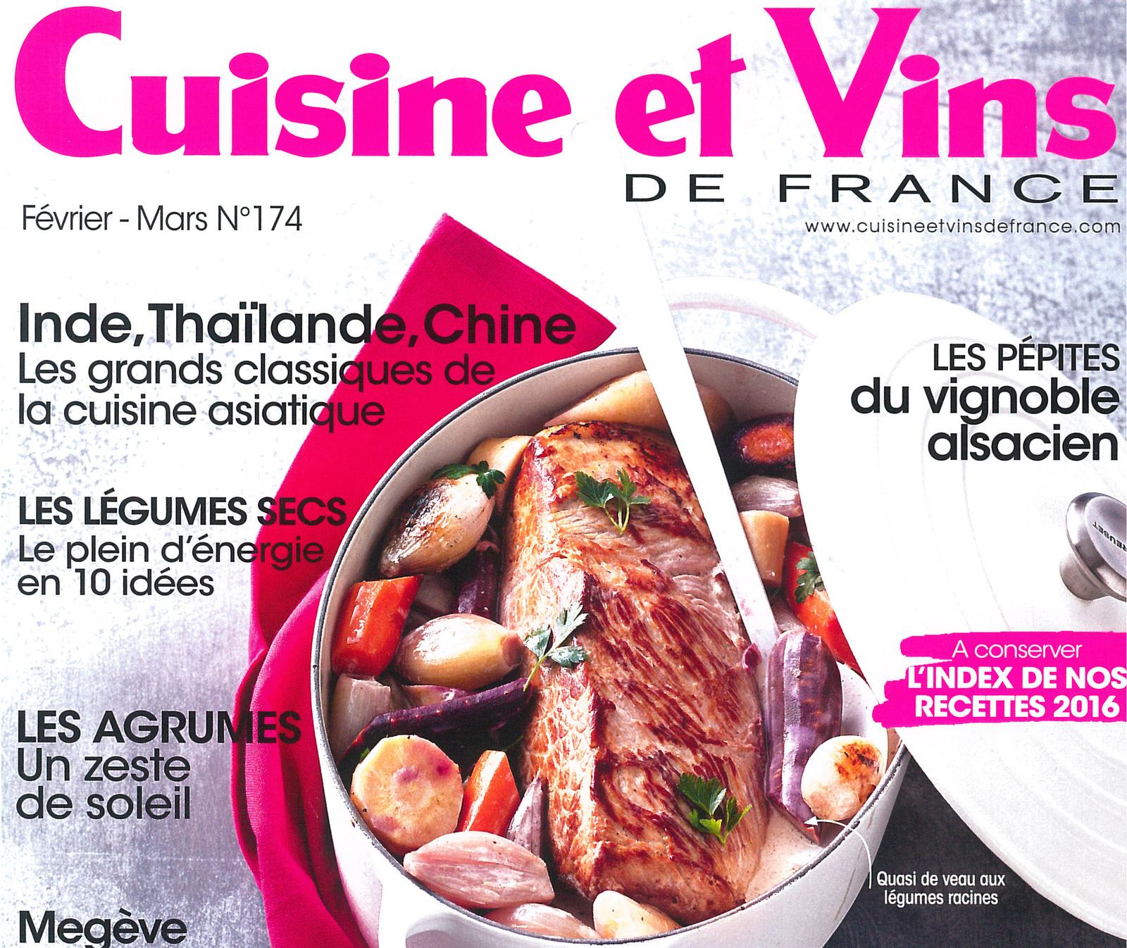 Vu dans la revue Cuisine et Vins de France