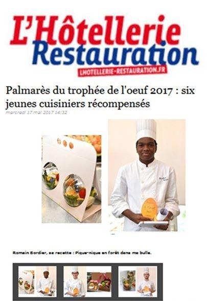 Vu dans l'Hôtellerie Restauration, un article sur le palmarès...
