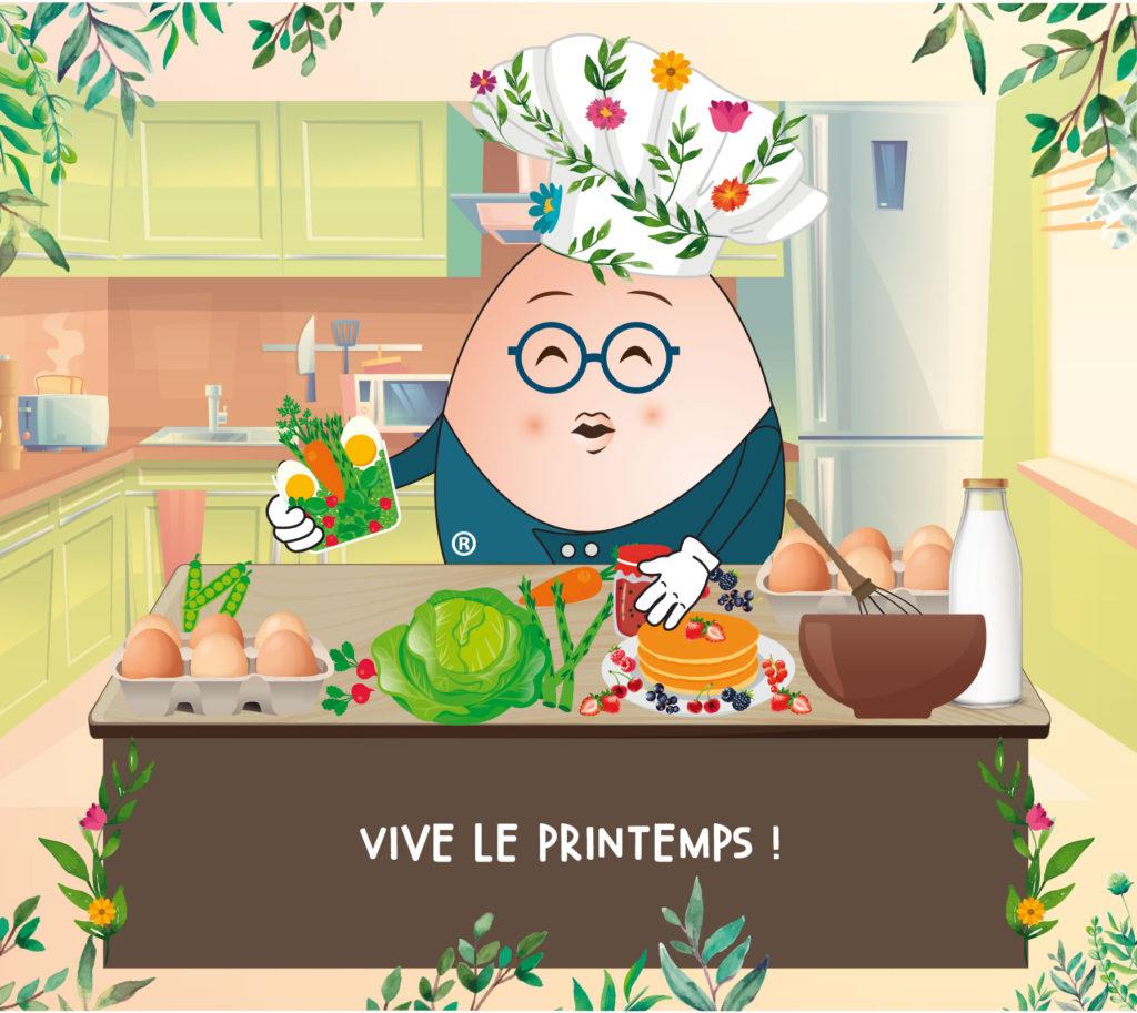 L'Œuf Maître d'Ecole de Cuisine Printemps - ADOCOM-RP
